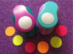 Fascola 2.5cm Circle and Wave Circle Shape hole punch set Pu