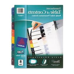 Avery Consumer Products Products - Table of Contents Divider
