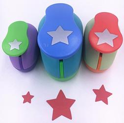 Tech-P Creative Life 3 PCS  Star Shape Craft Punch Scrapbook