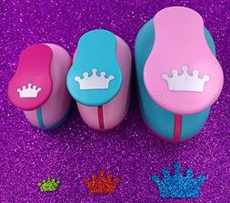 TECH-P Creative Life 3 PCS  Crown Shape Craft Punch Scrapboo