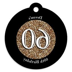 Custom Adult 60th Birthday - Gold - Personalized Birthday Pa