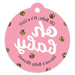 Custom Hello Little One - Pink and Gold - Personalized Girl