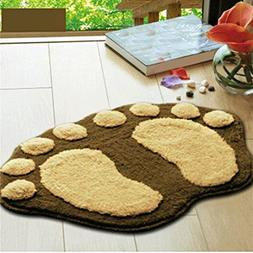 CarPet 5 Colors Cute Footprints Big Feet Bath Mats Pads Cart