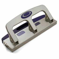 Officemate Deluxe Medium Duty 3-Hole Punch with Chip Drawer,