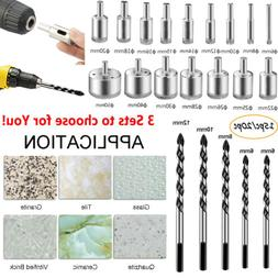 Diamond Glass Saw Cutter Drill Bits Set for Cutting Hole Cer