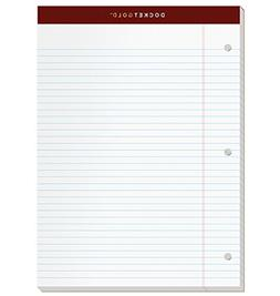 "TOPS Docket Gold Writing Pads, 8-1/2"" x 11-3/4"", Narrow Rule"