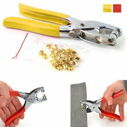 Eyelet Grommet Pliers Hole Punch Steel Fabric Paper Canvas S