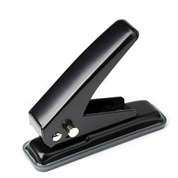 MROCO Low Force 1-Hole Punch, 20 Sheets Punch Capacity, 1/4""