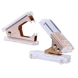 Gold Acrylic 1-Hole Punch and Staple Remover by Draymond Sto