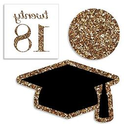 Big Dot of Happiness Gold Tassel Worth The Hassle - DIY Shap