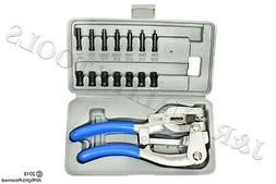New Hand Held Power Hole Punch Set Sheet Metal Plastic Die A