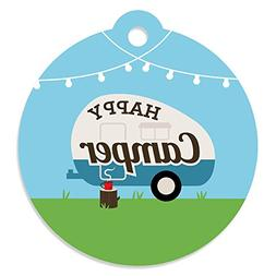 Happy Camper - Camping Baby Shower Or Birthday Party Favor G