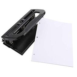 Heavy-Duty Adjustabl 11/40 2-3 Hole Punch, Low Force, 35 She