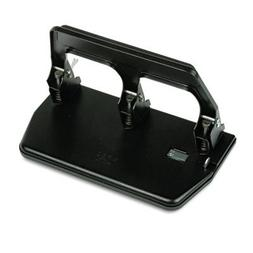 "40-Sheet Heavy-Duty Three-Hole Punch, 9/32"""" Holes, Gel Pad"