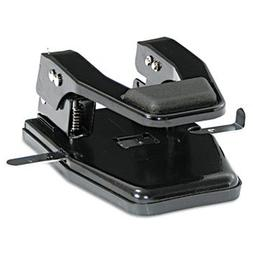 "40-Sheet Heavy-Duty Two-Hole Punch, 9/3"" Holes, Padded Handl"