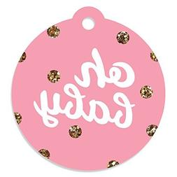 Hello Little One - Pink and Gold - Girl Baby Shower Party Fa