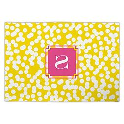 Dabney Lee Hole Punch Fabric Placemat with Single Initial, Z
