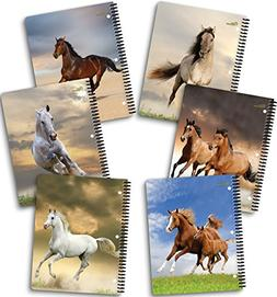 """New Generation - Horses - 1 Subject 70 Sheets 8"""" x 10.5"""" wir"""