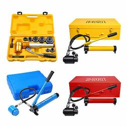 Hydraulic Knockout Punch Driver Kit Hand Pump Hole Case Tool