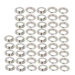 uxcell 50pcs 25mm Inner Dia Iron Nickle Plated Eyelet Gromme
