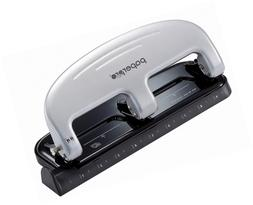 PaperPro inPRESS 20 Reduced Effort Three-Hole Punch, Silver,