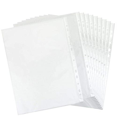 11 hole clear sheet protectors