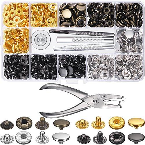 120 set sewing snap fasteners