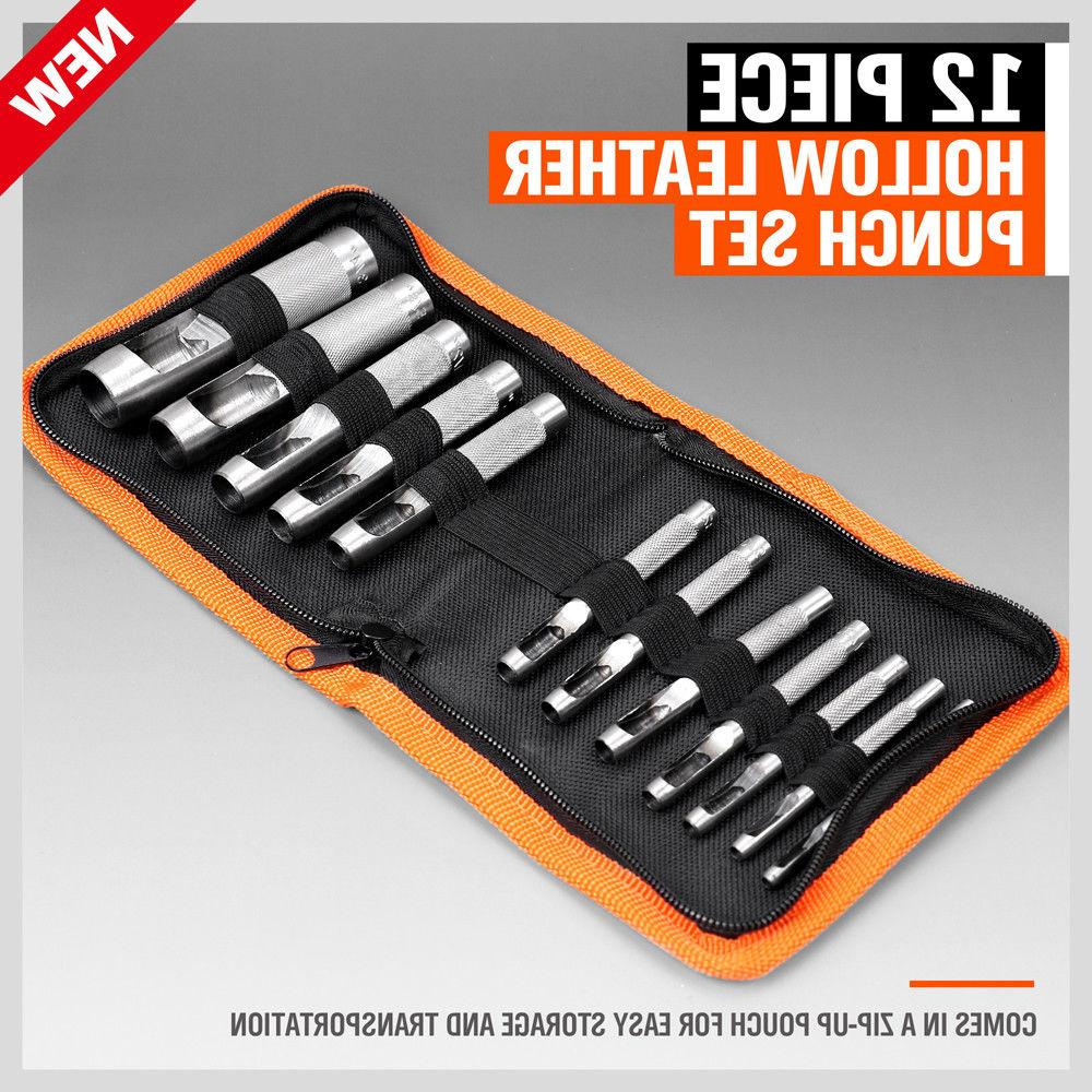12pc Leather Set Inch Vinyl with Case