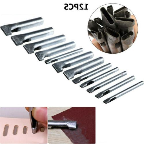 12pc leather hollow hole punch set tack