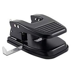 Office Depot Brand 2-Hole Paper Punch, Black