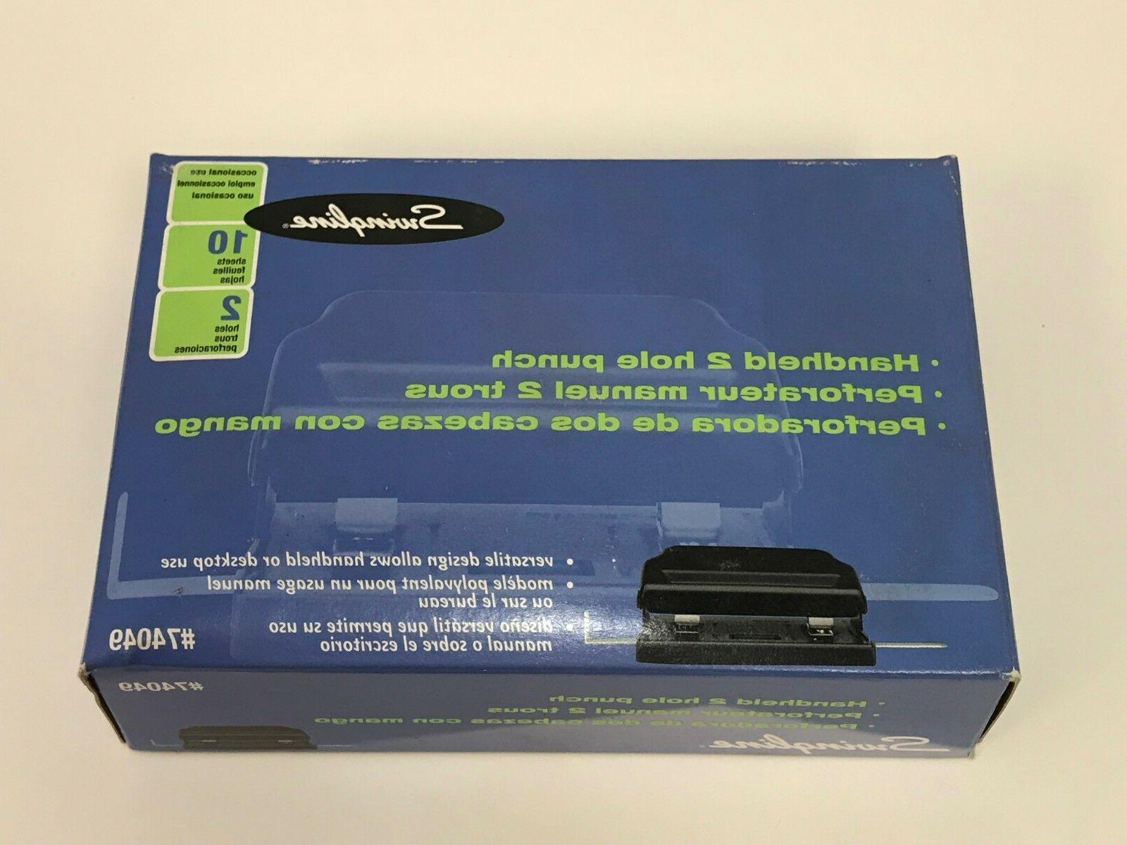 Swingline 2 Hole Punch, Handheld Two 10 Sheet NEW