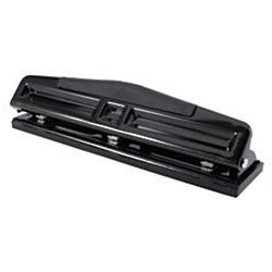 Office Depot 3-Hole Adjustable Punch, Black by Office Depot