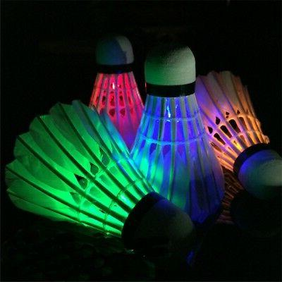 4x LED Set Shuttlecock Touch Glow Outdoor Indoor