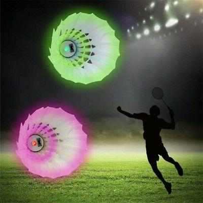 4x LED Shuttlecock Glow Indoor Sports