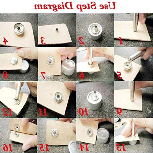 WedDecor 1000 Sets 15mm Snap Heavy Duty Free 4 Parts Button for Crafts, Jackets, Bags, Straps, Clothes