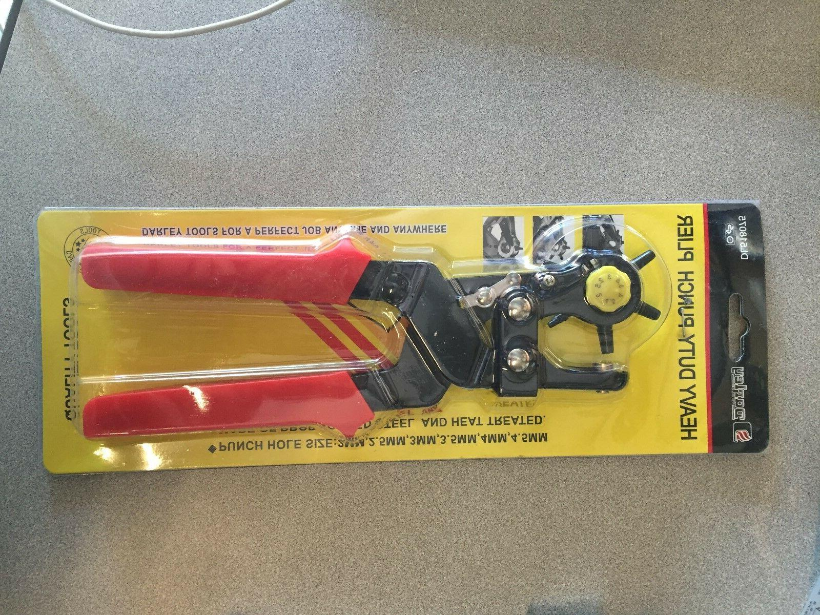 6 Sized 9-1/2'' Duty Punch Hand Pliers Revolving 9016