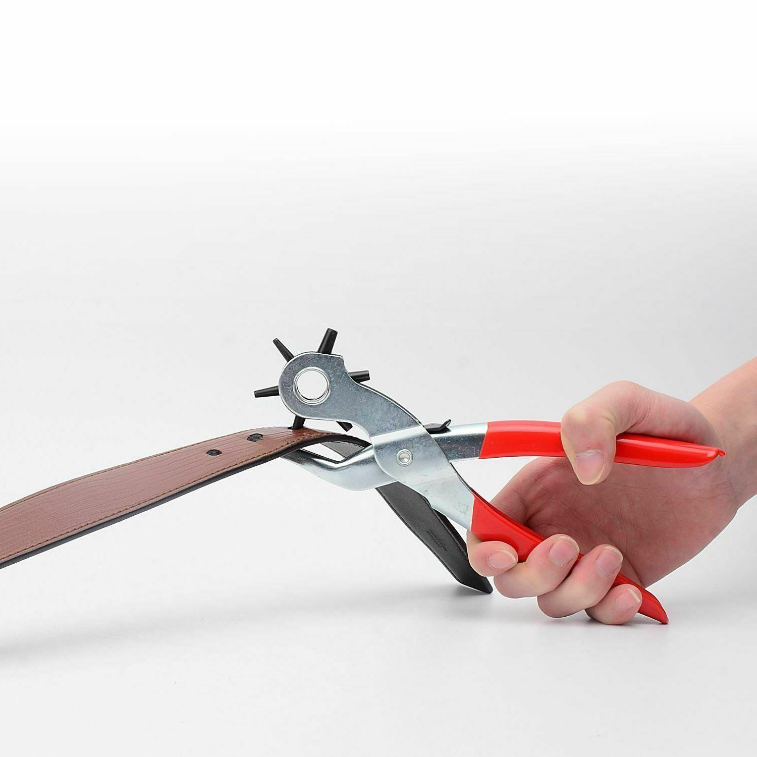 """6 9"""" Duty Leather Hole Hand Pliers Punches"""