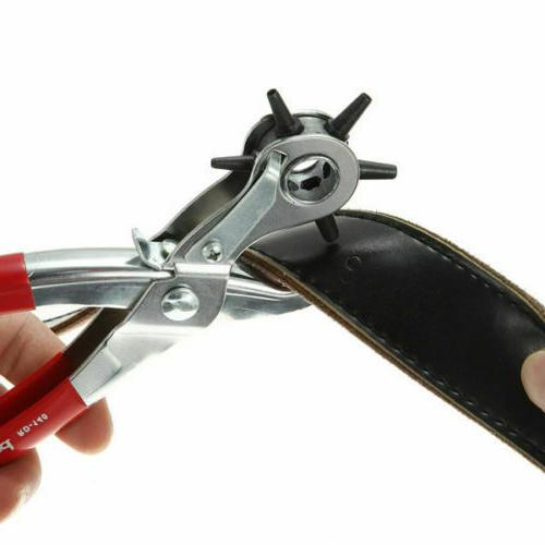 """6 Sized 9"""" Duty Hand Belt Punches"""