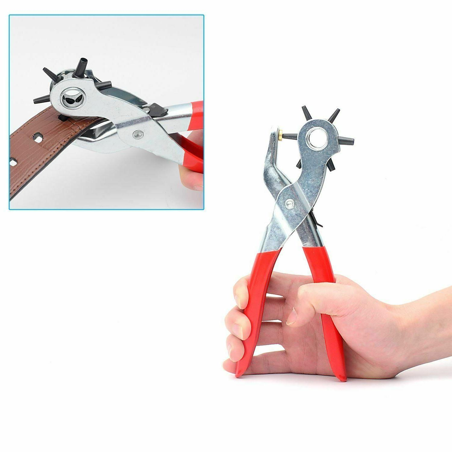 6 Sized Duty Leather Hole Hand Belt Punches