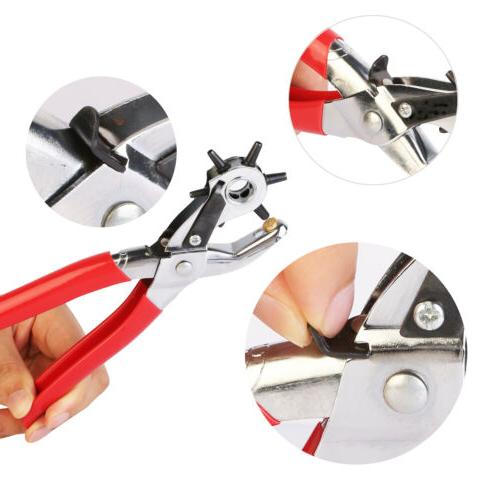 6 Sized Duty Hole Punch Hand Belt Punches
