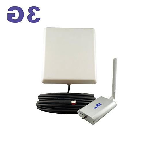 65dB 850MHz Cell Phone Signal Booster Repeater for Home and Office GSM CDMA  HSPA HSPA+ Mobile Amplifier Supports 2,500 Square Foot Area Full Kit