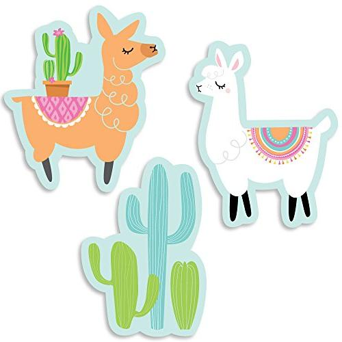 Big Dot of Happiness Whole Llama Fun - DIY Shaped Llama Fies