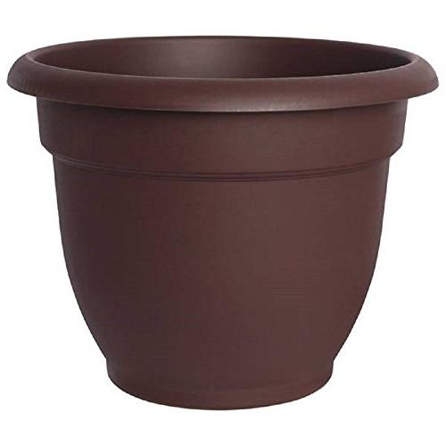 Bloem Ariana Resin Planter With Self Watering Disk, Chocolat