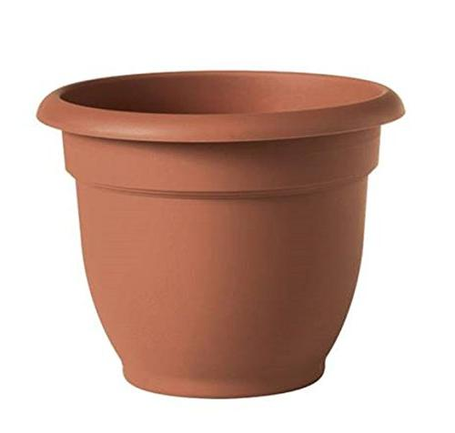 Bloem Ariana Resin Planter With Self Watering Disk, Clay - S