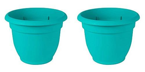 Bloem Ariana Resin Planter With Self Watering Disk, Turquois