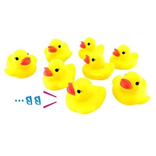 Sagton 10PC Duck Squishy Toy, Cute Squeezing Call Rubber Duc