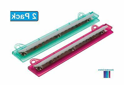 1InTheOffice Binder 3 Hole Punch, Assorted Colors ''2 Pack''