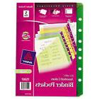 Small Binder Polypropylene Pockets, 7-Hole Punched, Assorted
