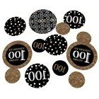 Adult 100th Birthday - Gold - Birthday Party Table Confetti
