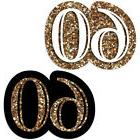 Adult 60th Birthday - Gold - DIY Shaped Birthday Party Cut-O